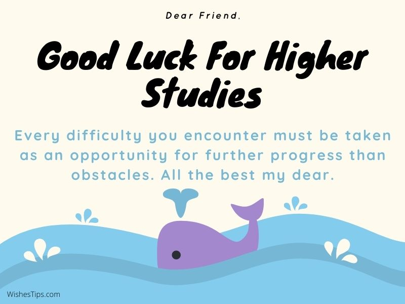 Best Wishes For Friend Going Abroad For Higher Studies Farewell Message Image