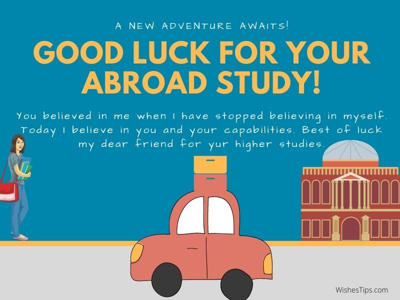 Best Wishes For Friend Going Abroad For Higher Studies Farewell Messages Quote