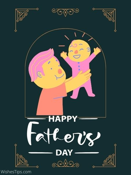 Happy Fathers Day messages card