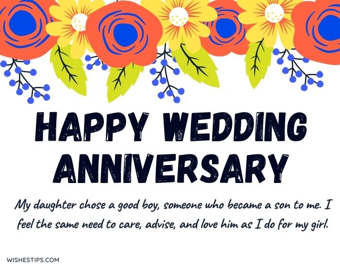 Happy Marriage Anniversary Wishes To Daughter And Son In Law Image
