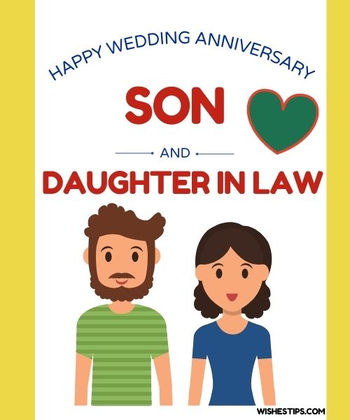 Happy Wedding Anniversary Wishes And Messages For Son And Daughter In Law