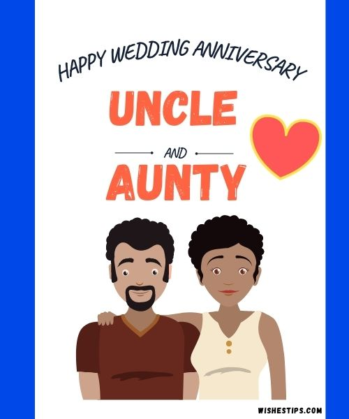 Happy Anniversary Wishes To Uncle And Aunty wedding Messages image