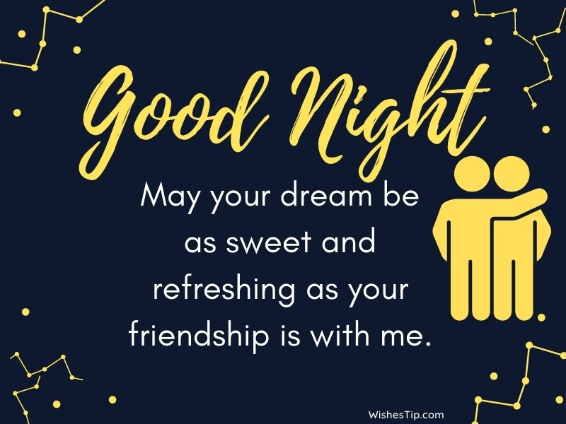 Goodnight Messages For Friend wishes images