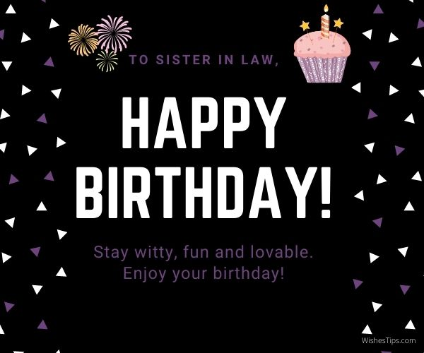 Happy Birthday Wishes For Sister in law Image